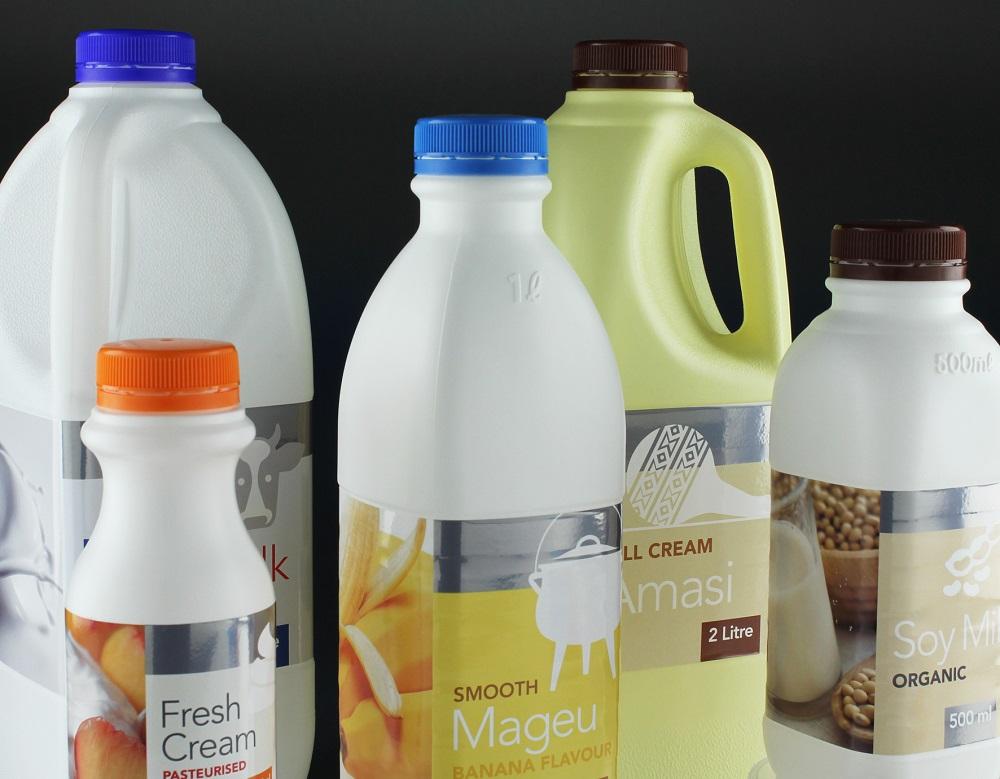 Polyoak HDPE Plastic Milk Bottles